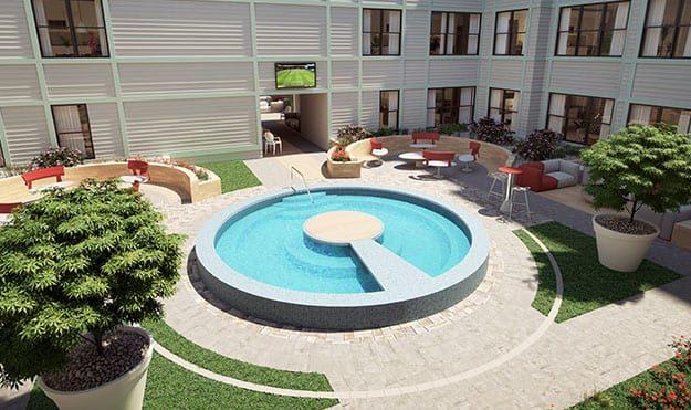 Courtyard Pool & Hot Tub