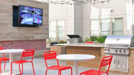 Outdoor Grilling Area At The Standard Raleigh